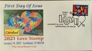 AFDCS 5554 Love Stamp Loveland Colorado The Sweetheart City Slogan CXL
