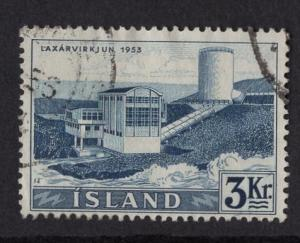Iceland    #295   used   1956  waterfalls  3k Laxar
