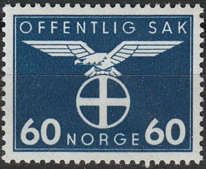 Stamp Norway Official Sc O053 1942 WW2 3rd Reich Germany Occupation MNH