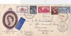 New Zealand 1946 Wellington coronation   multi  stamps cover R19921