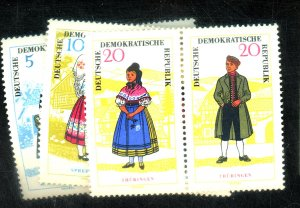 GERMAN DDR #740A 742A 744A MINT VF OG NH CAT $40