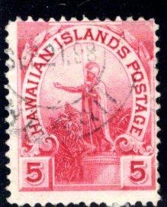 Hawaii #76 light Hilo 271.035 cancel dated September 21, 1898