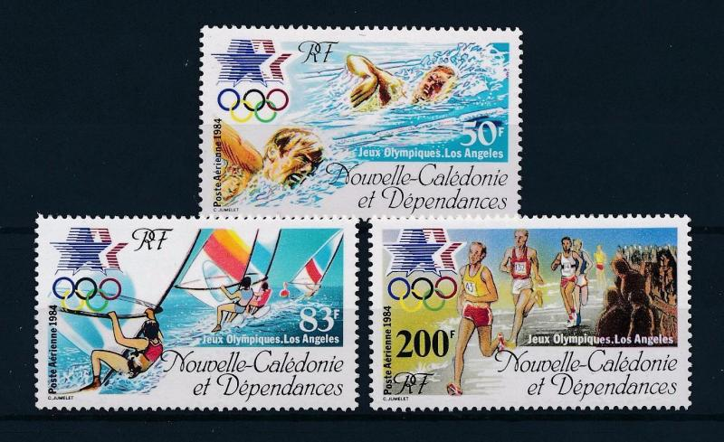 [46351] New Caledonia 1984 Olympic games Los Angeles Swimming Athletics MNH