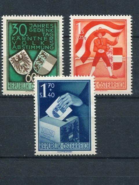 Austria  #B269-71  Mint VF NH