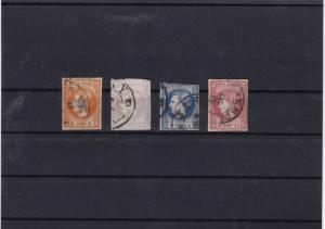 romania used1868 imperf stamp set cat £200 ref 11738