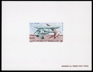 St.Pierre and Miquelon 1990 Sc#C66 FLYING FLEA - BIRD -AIRCRAFT DELUXE S/S MNH