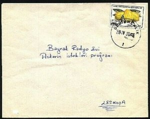 TURKISH CYPRUS 1978 cover DEGIRMENLIK cds..................................94273