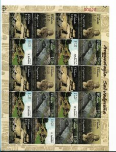 EL SALVADOR 2007 ARCHEOLOGY SITES FULL SHEET VOLCANO MAYAN CITY MNH MI2485-2488
