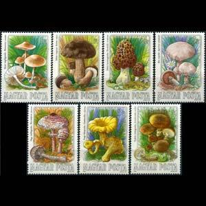 HUNGARY 1984 - Scott# 2873-9 Mushrooms Set of 7 NH