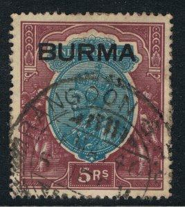 BURMA 1937 5r KING GEORGE V