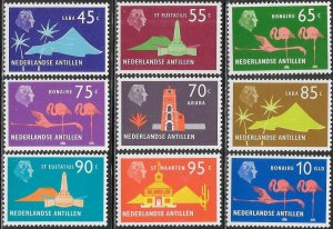 Netherlands Antilles (Curacao) 340-348  MNH - Island Series