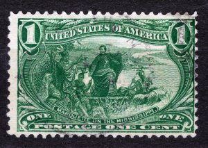 USA - STAMP,1898,Marquette on the Mississippi 2 ¢ yellow green,