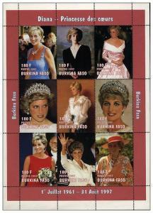 Burkina Faso MNH S/S Lady Diana 1997