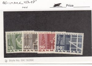 J26075  jlstamps 1967 denmark set mnh #432-5 designs, all checked