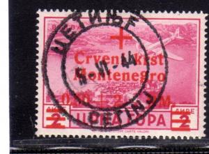 MONTENEGRO TEDESCA CETTIGNE 1944 POSTA AEREA AIR MAIL CROCE ROSSA RED CROSS 0...