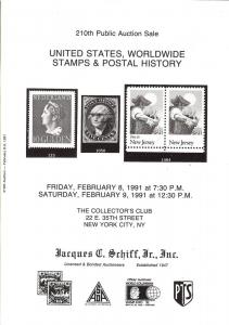 United States, Worldwide Stamps & Postal History, Schiff 210
