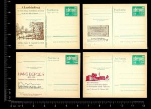 EAST GERMANY - DDR (48) Unused Cacheted Postal Cards Various Events ALL MNH