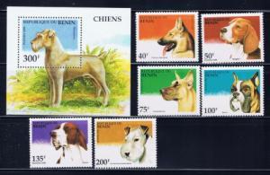 Benin PR 741-47 NH 1995 Dogs set