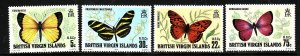 Virgin Is.-Sc#342-5-unused NH set-Insects-Butterflies-id2-1978-