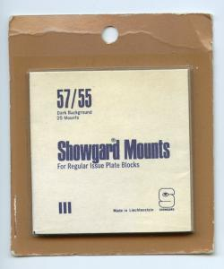 SHOWGARD DARK BACKGROUND MOUNTS 57/55 PACKAGE 25 Mounts