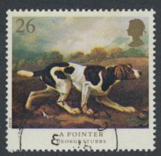 Great Britain SG 1532  Used  - Dogs George Stubbs Painting