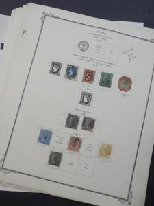 EDW1949SELL : INDIA Nice Mint & Used collection on pages including many Better
