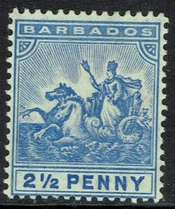 BARBADOS 1905 QV SEAHORSES 21/2D WMK MUTI CROWN CA