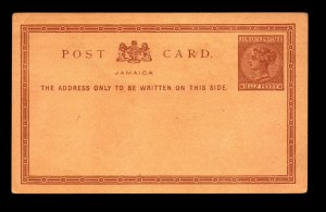 Jamaica 1870s 1/2p Postal Card Unused - L11507