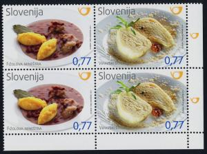 Slovenia 1098 BR Block MNH Traditional Food