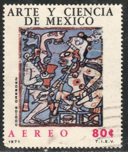 MEXICO C380, MAYAN DRAWINGS ART AND SCIENCE. Used. (753)