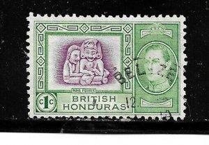 British Honduras Stamp- Scott # 115/A15- 1c-Canc/LH-1938-OG
