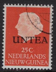 Netherlands West New Guinea UNTEA  #10 UN temporary authority 1962 cancelled 25c