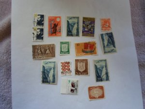 ISRAEL STAMPS MIXED CONDITION. LOT OF 15 stamps ( 9 )