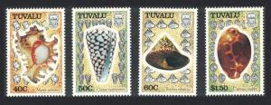 Tuvalu Sea Shells 4v 1991 MNH SG#597-600 CV£8.35