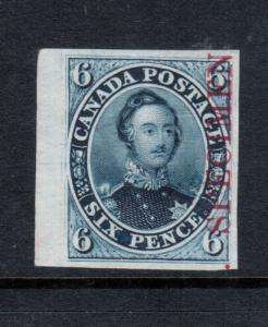 Canada #2TCxi Extra Fine Proof In Greyish Blue On India Paper