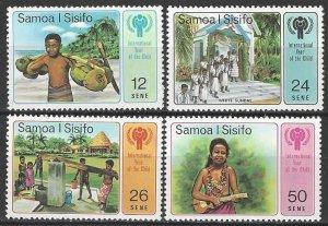 Samoa 499-502  MNH  Year of the Child 1979