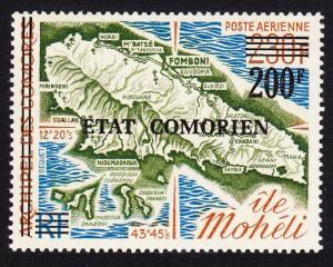 Comoro Is. Overprint 'Etat Comorien' 200 Fr on 230 Fr SC#C92 MI#244