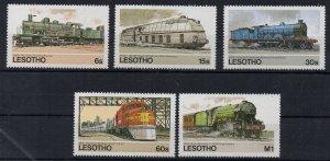 LESOTHO - 1984 - TRAINS -