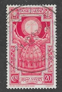 Italy # 310 St. Peter's Dome   20c  1933  (1)  Used