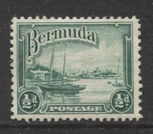 Bermuda - Scott 105 - Hamilton Harbor - 1936 - MLH - Single - 1/2d Stamp