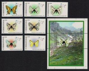 Uzbekistan Butterflies 7v+MS 2006 MNH SG#524-MS531 MI#628-634+ Block 43