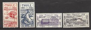 Greenland Locals - Thule 1935-37 Facit 2-5 u fvf See Below