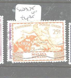 MALAYA PENANG   (P2704B) UPU  SG 23-5  VFU