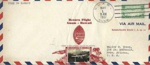 RARE CROSBY FF F.A.M. 14 PAN-AM CLIPPER - GUAM - HAWAII 1937