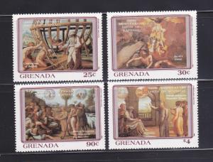 Grenada 1145-1148 Set MNH Art, Paintings