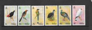 Birds - Belize #387-392  MNH
