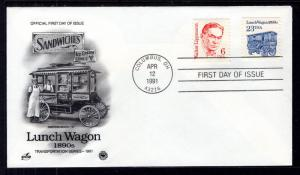 US 2464 Lunch Wagon PCS Artcraft Variety U/A FDC