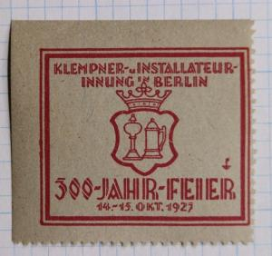 300 Year Civil Plumbing clean water sewer Celebrate Berlin German 1927 Poster
