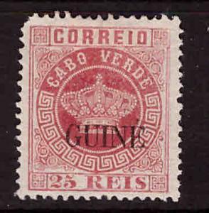 Portuguese Guinea  Scott 13 MH* Crown overprint
