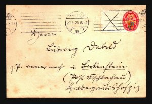 Germany SC# B25 Se-Tenant Pair On 1928 Cover - Z17112